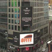 OFITE Manufacturing Solutions on Times Square Marquee