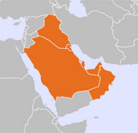 Map of Middle East Countries Covered by OFITE Service in Dubai